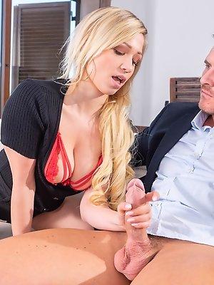 Sexy Blonde Gabi Gold Enjoys Anal with Perverted Teacher